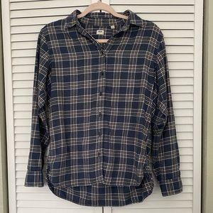 COPY - Uniqlo plaid flannel cotton button down sh…